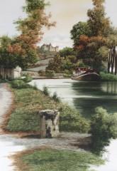 Le canal de bourgogne et chateauneuf