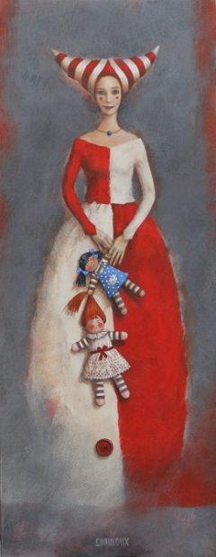 50x20-La Dames aux poupées de chiffons-CX-1