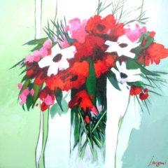 70x70-Quelques fleurs blanches et rouges