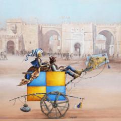 Monsieur et Madame aux portes du désert 100 x 100