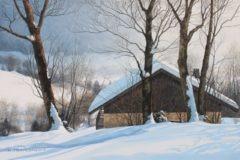 trapezaroff - Petite grange savoyarde en hiver (4P)