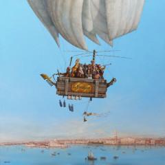 Vol audessus de Venise 100 x 100